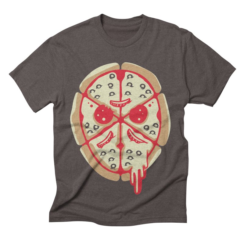 Pizza Friday Men's Triblend T-shirt by EVILGOODS