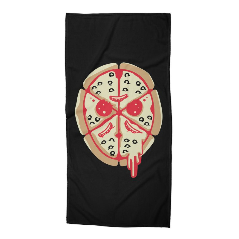 Pizza Friday Accessories Beach Towel by EVILGOODS