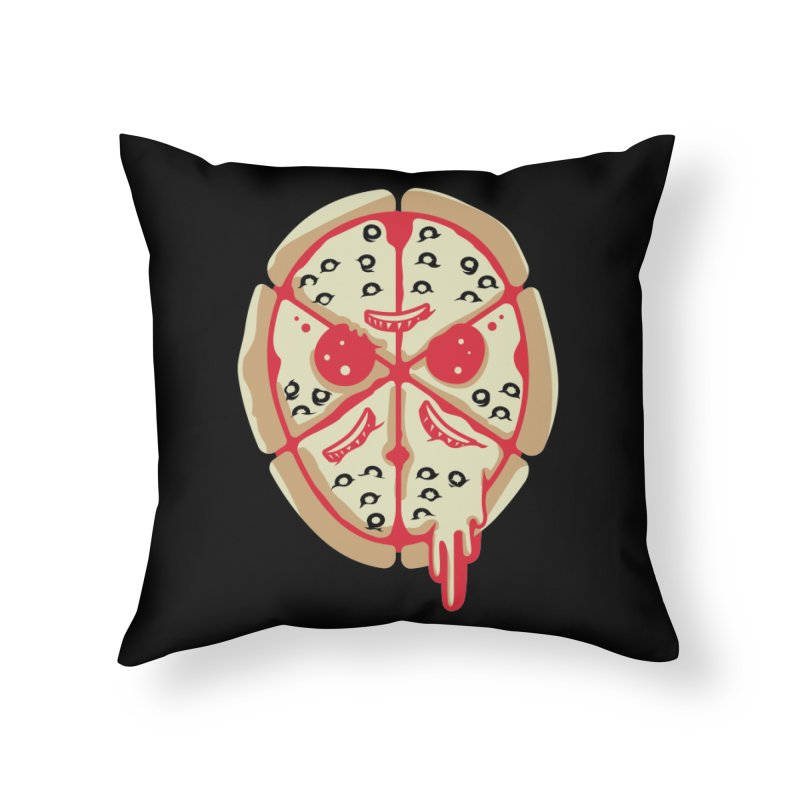 Pizza Friday Home Throw Pillow by EVILGOODS