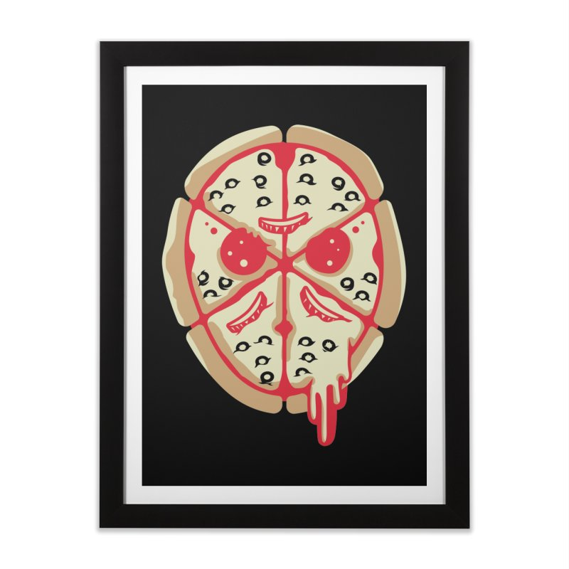 Pizza Friday Home Framed Fine Art Print by EVILGOODS
