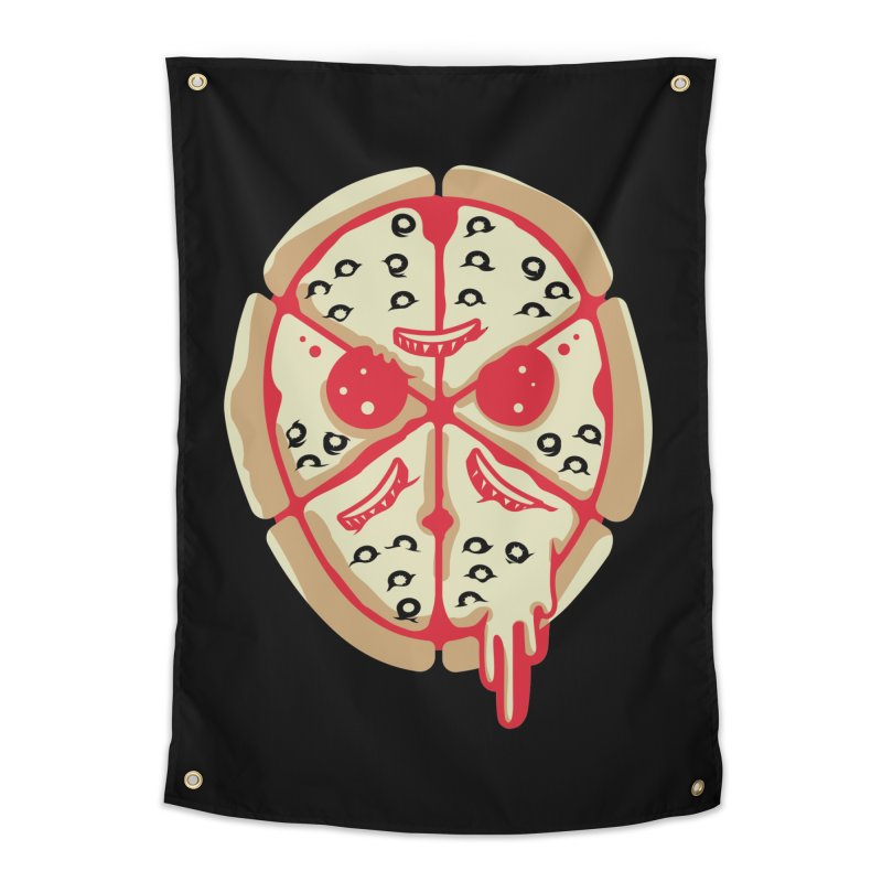 Pizza Friday Home Tapestry by EVILGOODS