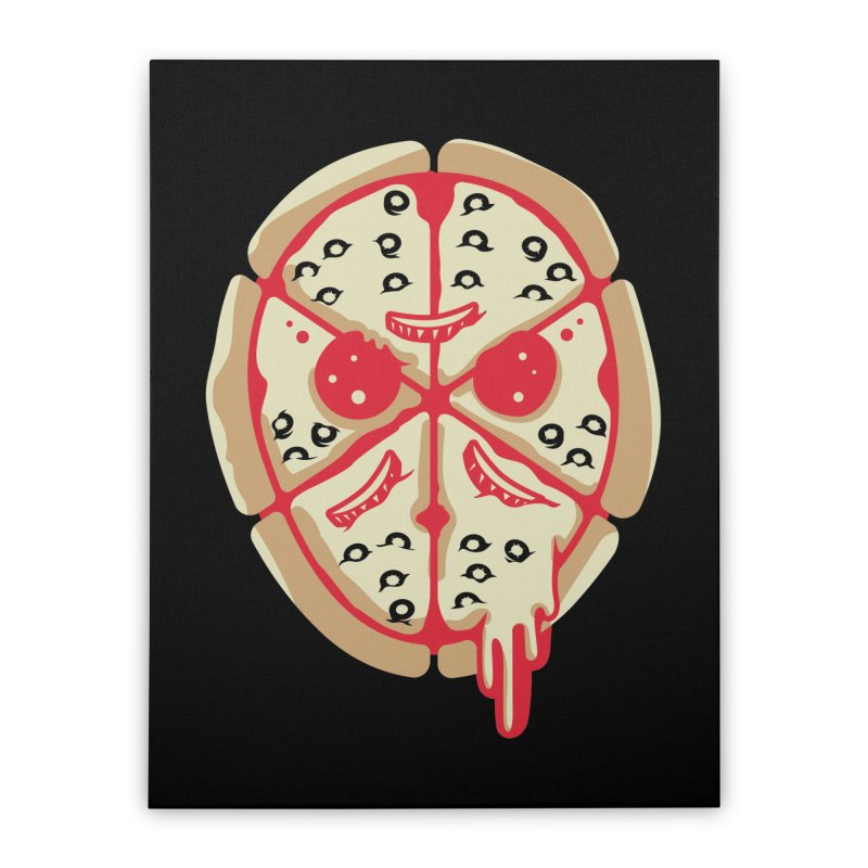 Pizza Friday Home Stretched Canvas by EVILGOODS