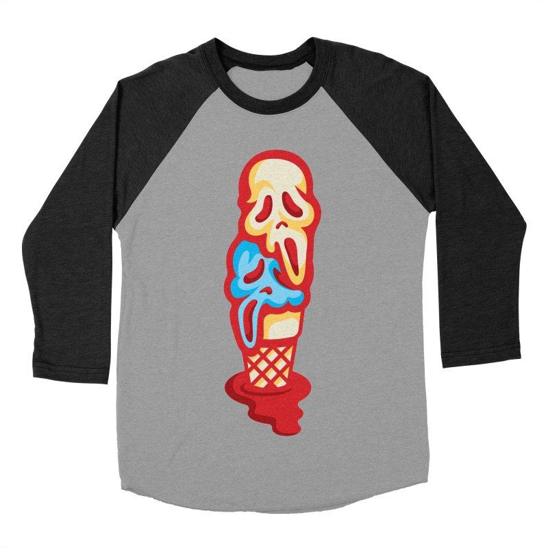 IceScream Men's Baseball Triblend T-Shirt by EVILGOODS