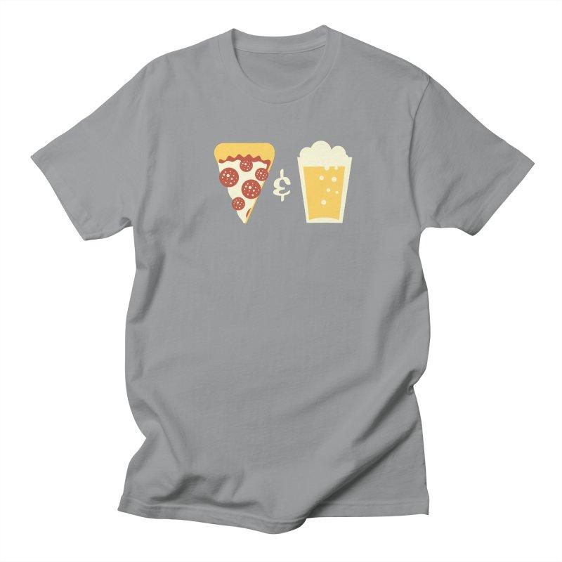 Pizza & Beer Men's T-shirt by EVILGOODS