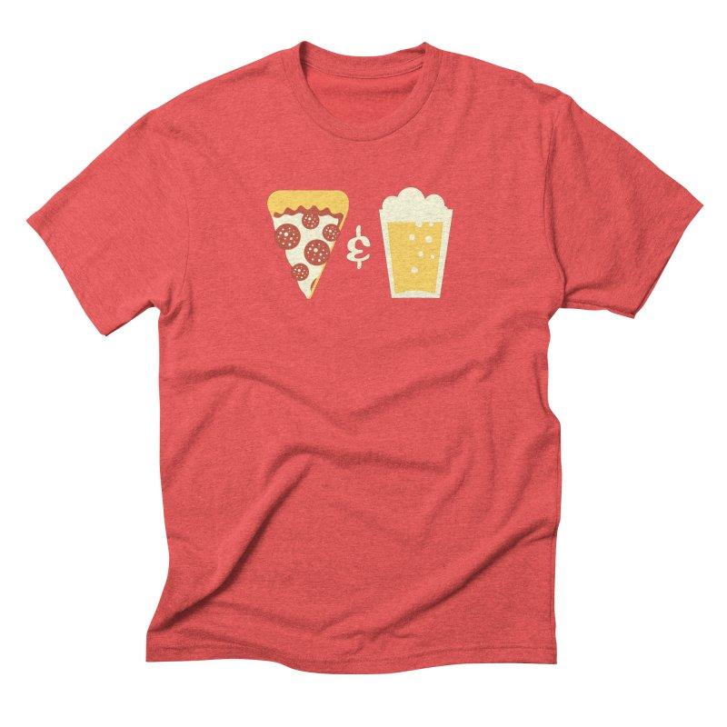 Pizza & Beer Men's Triblend T-shirt by EVILGOODS