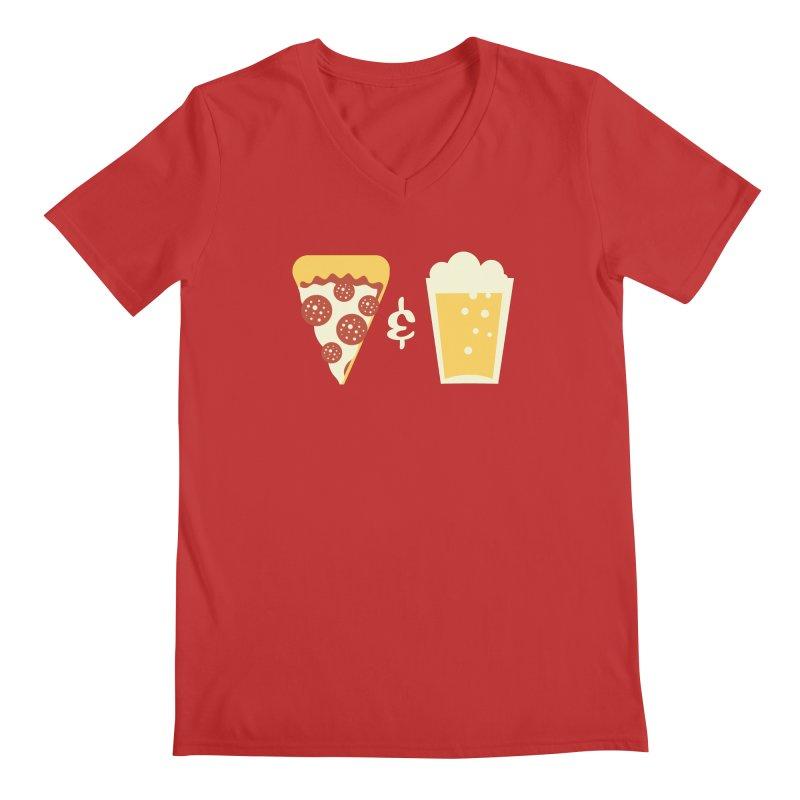 Pizza & Beer Men's V-Neck by EVILGOODS