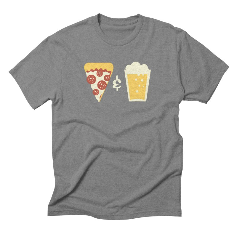 Pizza & Beer Men's Triblend T-shirt by EVILGOODS