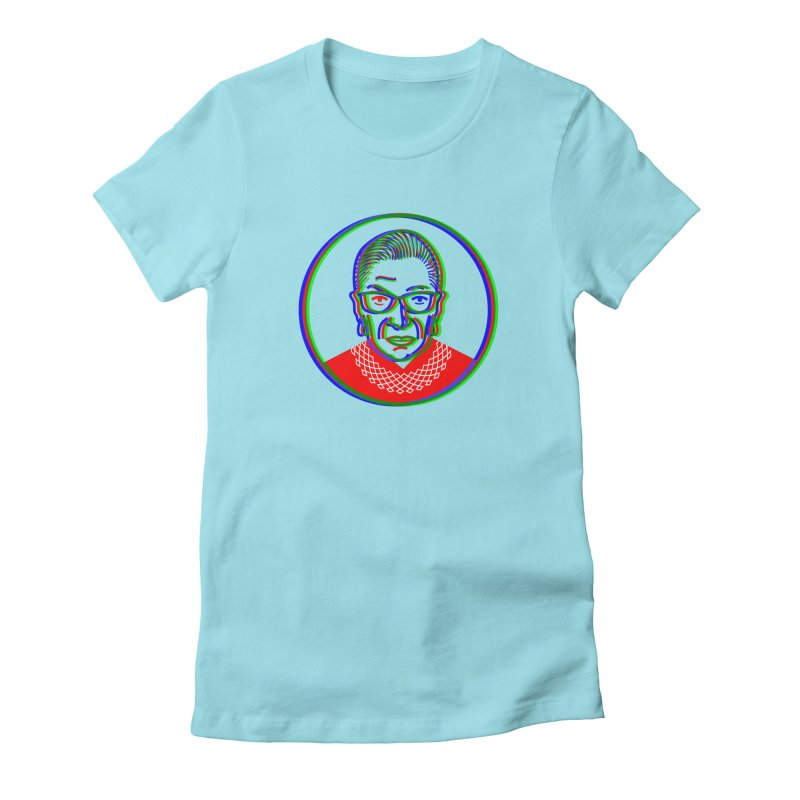 RBG in RGB Women's Fitted T-Shirt by EVILGOODS