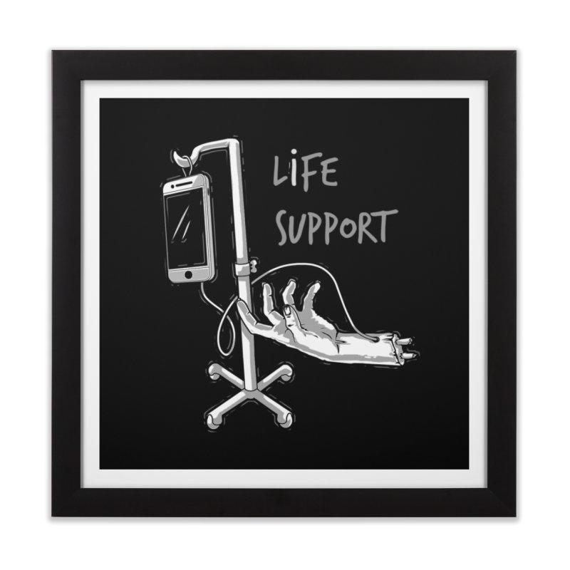 Life Support Home Framed Fine Art Print by eviliv's Artist Shop