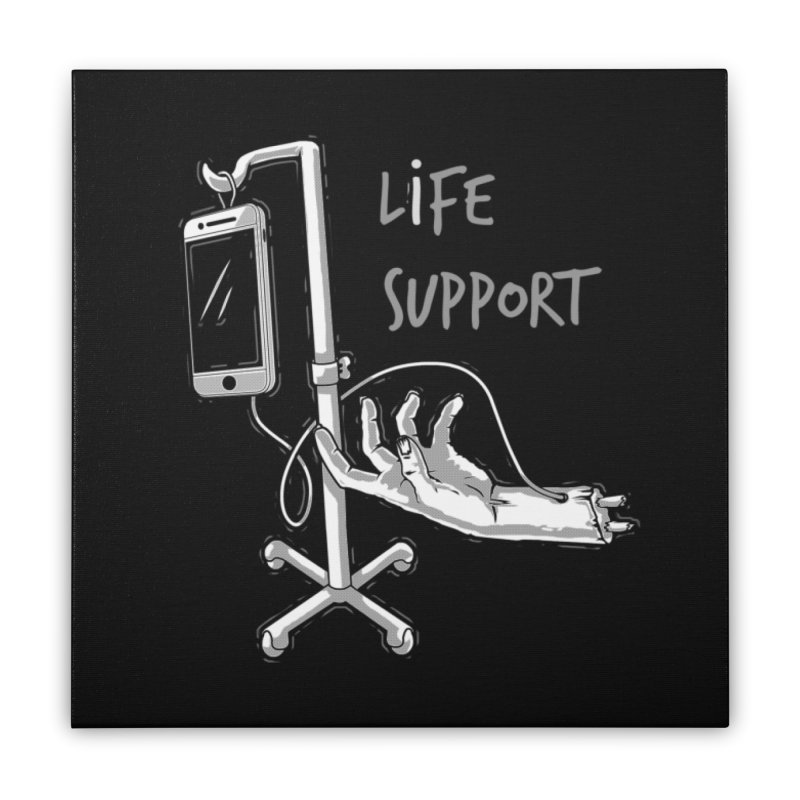 Life Support Home Stretched Canvas by eviliv's Artist Shop