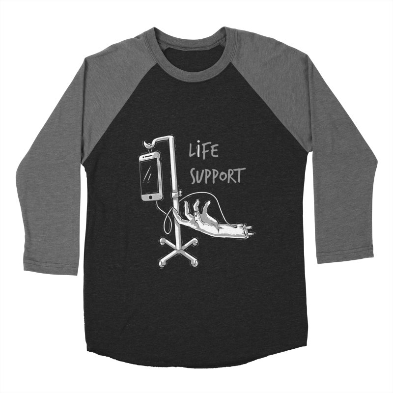 Life Support Men's Baseball Triblend T-Shirt by eviliv's Artist Shop