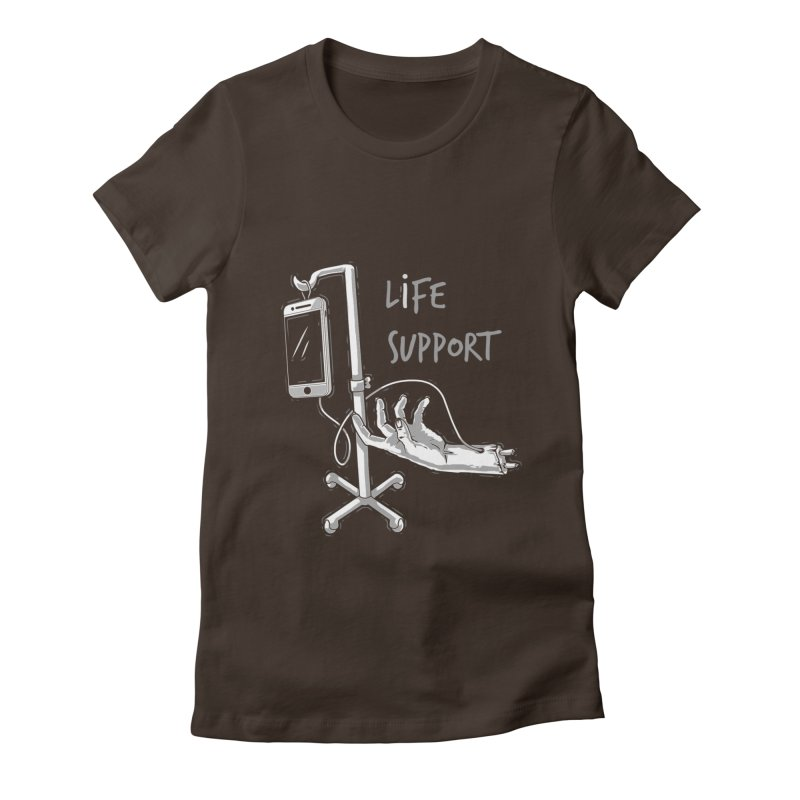Life Support Women's Fitted T-Shirt by eviliv's Artist Shop