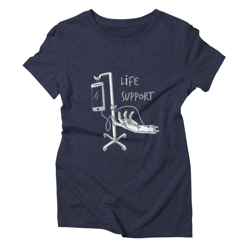 Life Support Women's Triblend T-shirt by eviliv's Artist Shop