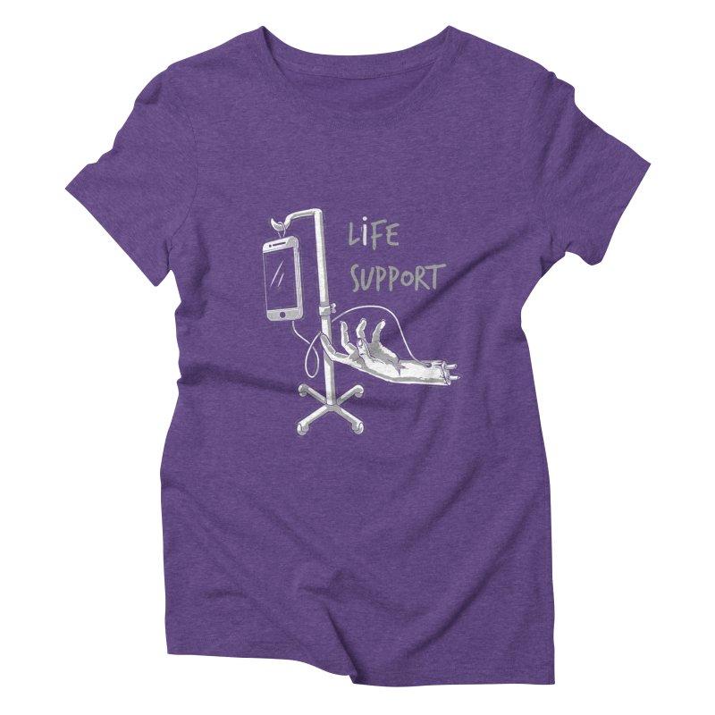 Life Support Women's Triblend T-Shirt by eviliv's Artist Shop