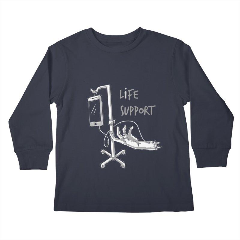 Life Support Kids Longsleeve T-Shirt by eviliv's Artist Shop