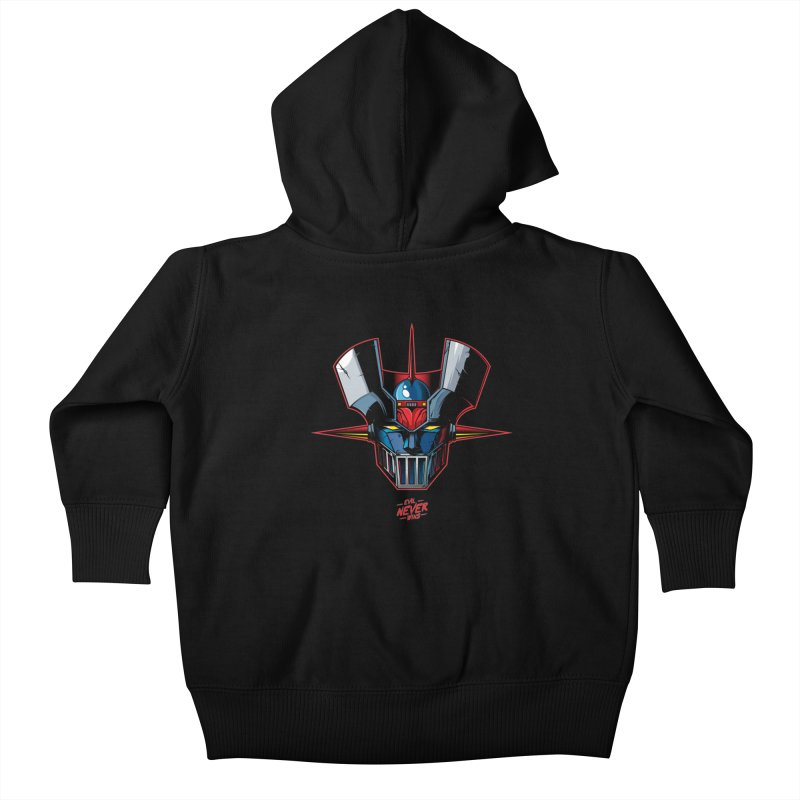 Classic Mecha MZ Kids Baby Zip-Up Hoody by evilneverwins's Artist Shop