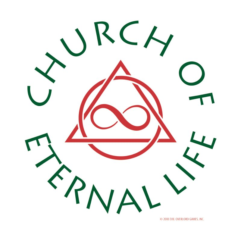 Church of Eternal Life logo Women's Longsleeve T-Shirt by Evil Overlord Games - The Shop!