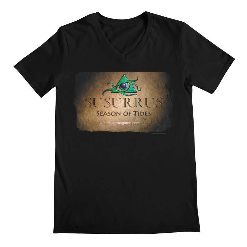 Susurrus Stone Logo Men's Regular V-Neck by Evil Overlord Games - The Shop!