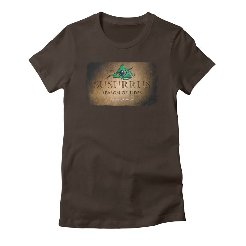 Susurrus Stone Logo in Women's Fitted T-Shirt Chocolate by Evil Overlord Games - The Shop!