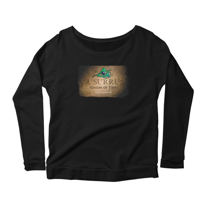 Susurrus Stone Logo Women's Scoop Neck Longsleeve T-Shirt by Evil Overlord Games - The Shop!