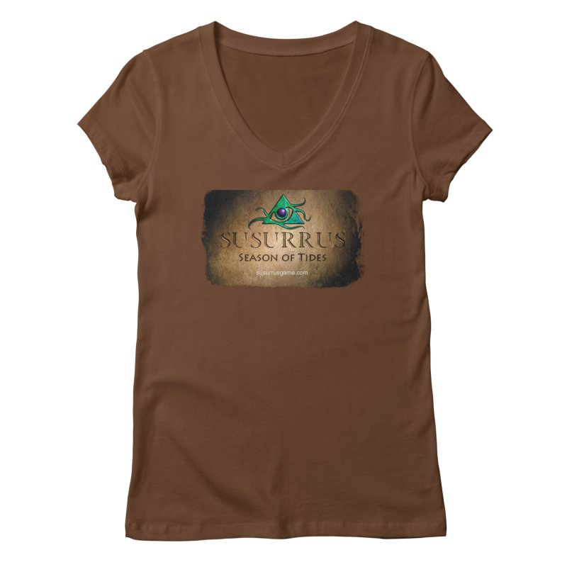 Susurrus Stone Logo Women's Regular V-Neck by Evil Overlord Games - The Shop!