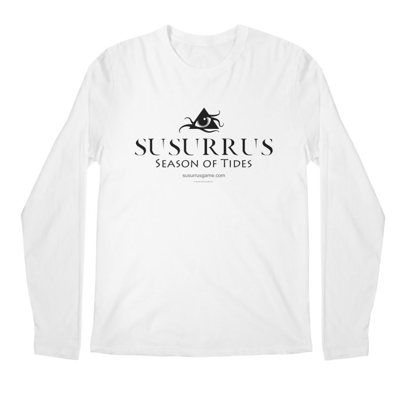 Susurrus logo - dark in Men's Regular Longsleeve T-Shirt White by Evil Overlord Games - The Shop!