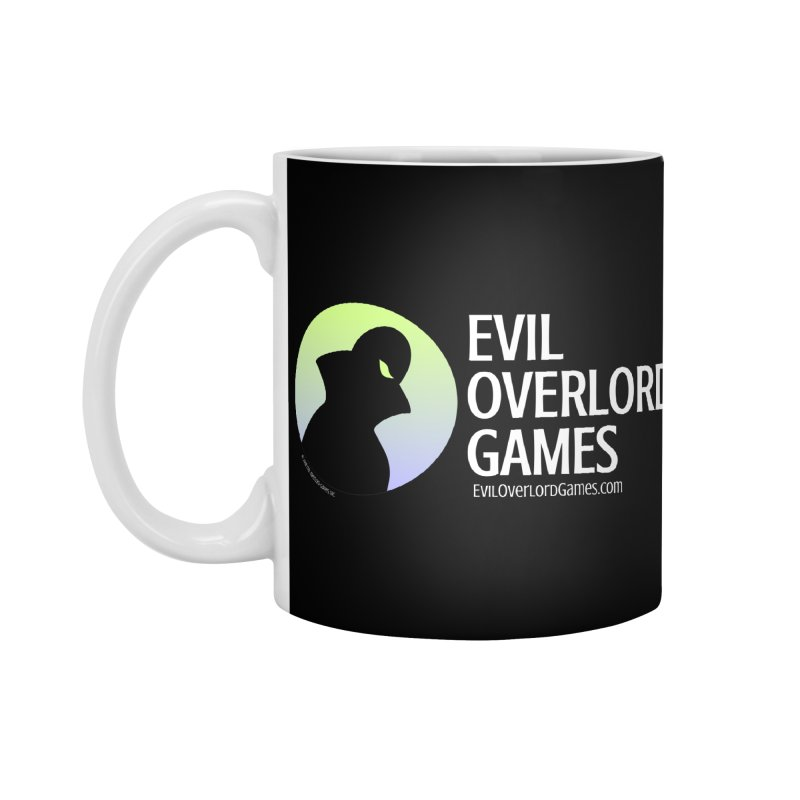 Evil Overlord logo - light Accessories Mug by Evil Overlord Games - The Shop!