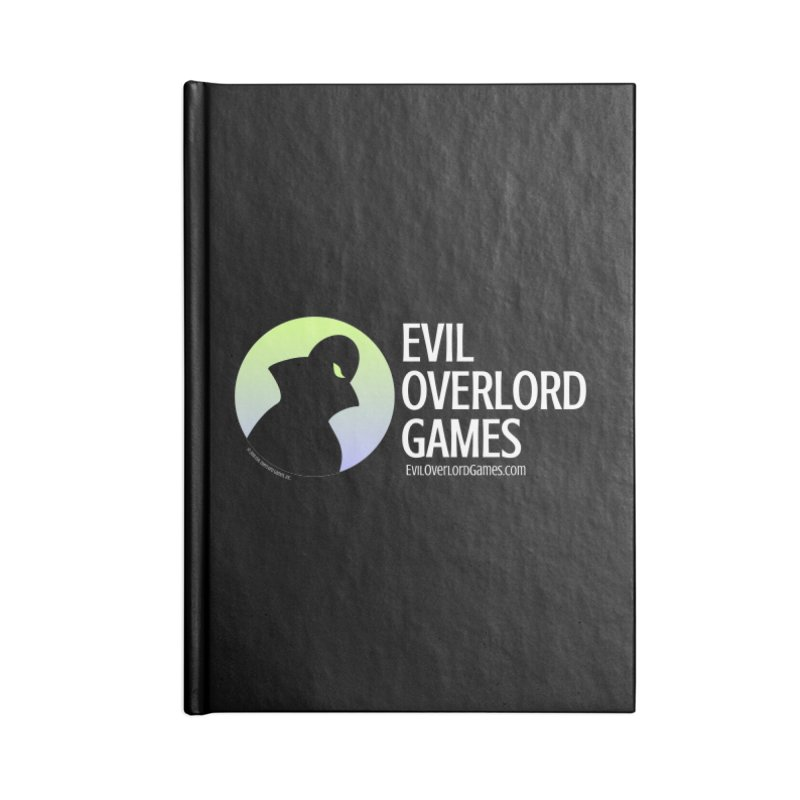 Evil Overlord logo - light Accessories Lined Journal Notebook by Evil Overlord Games - The Shop!