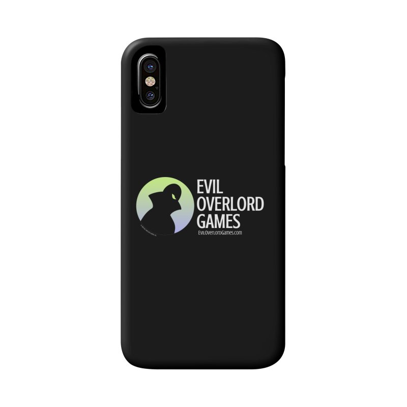Evil Overlord logo - light Accessories Phone Case by Evil Overlord Games - The Shop!