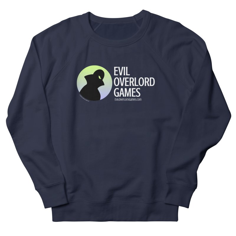 Evil Overlord logo - light in Men's French Terry Sweatshirt Navy by Evil Overlord Games - The Shop!