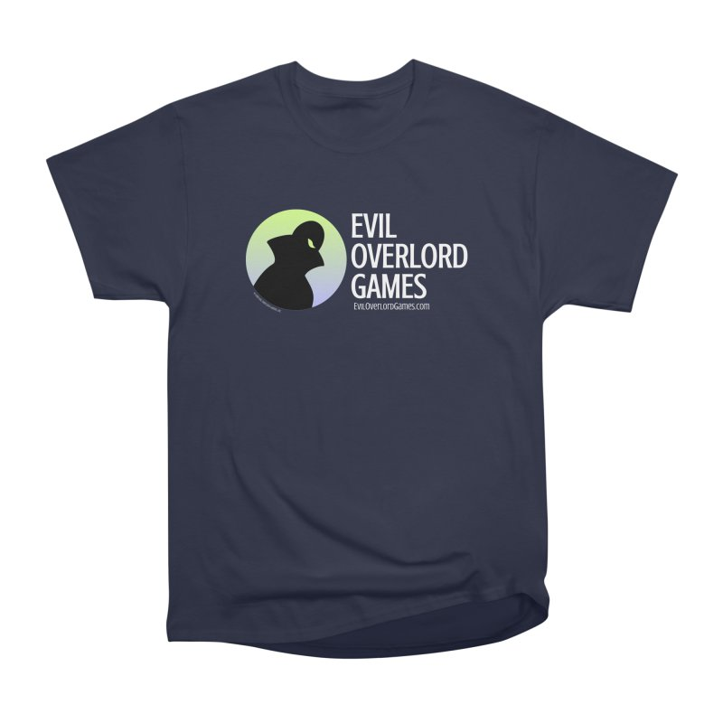 Evil Overlord logo - light Men's Heavyweight T-Shirt by Evil Overlord Games - The Shop!