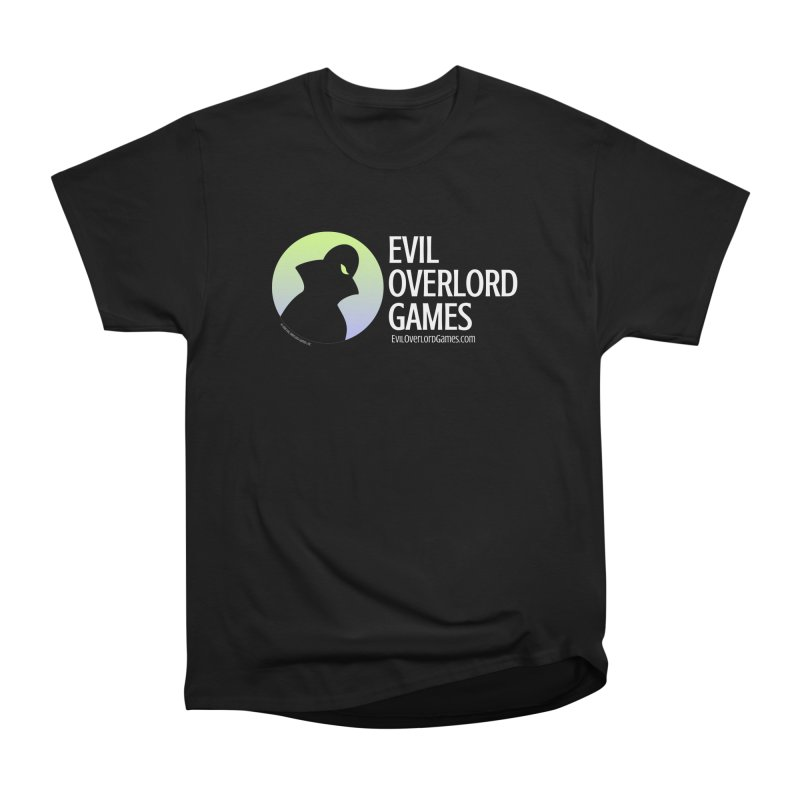 Evil Overlord logo - light Women's Heavyweight Unisex T-Shirt by Evil Overlord Games - The Shop!