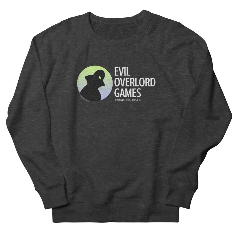 Evil Overlord logo - light Men's French Terry Sweatshirt by Evil Overlord Games - The Shop!