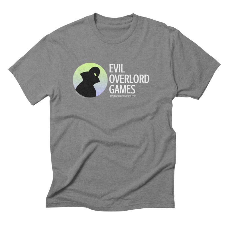 Evil Overlord logo - light Men's Triblend T-Shirt by Evil Overlord Games - The Shop!