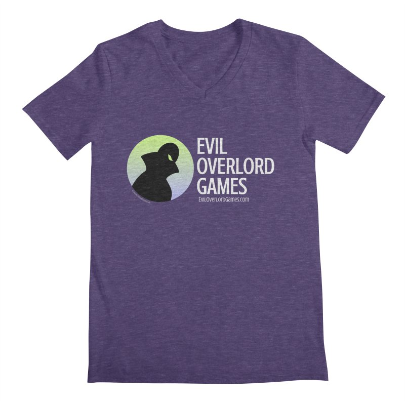 Evil Overlord logo - light Men's Regular V-Neck by Evil Overlord Games - The Shop!