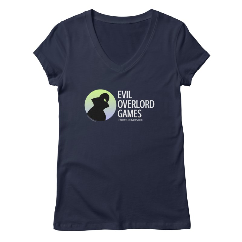 Evil Overlord logo - light Women's Regular V-Neck by Evil Overlord Games - The Shop!