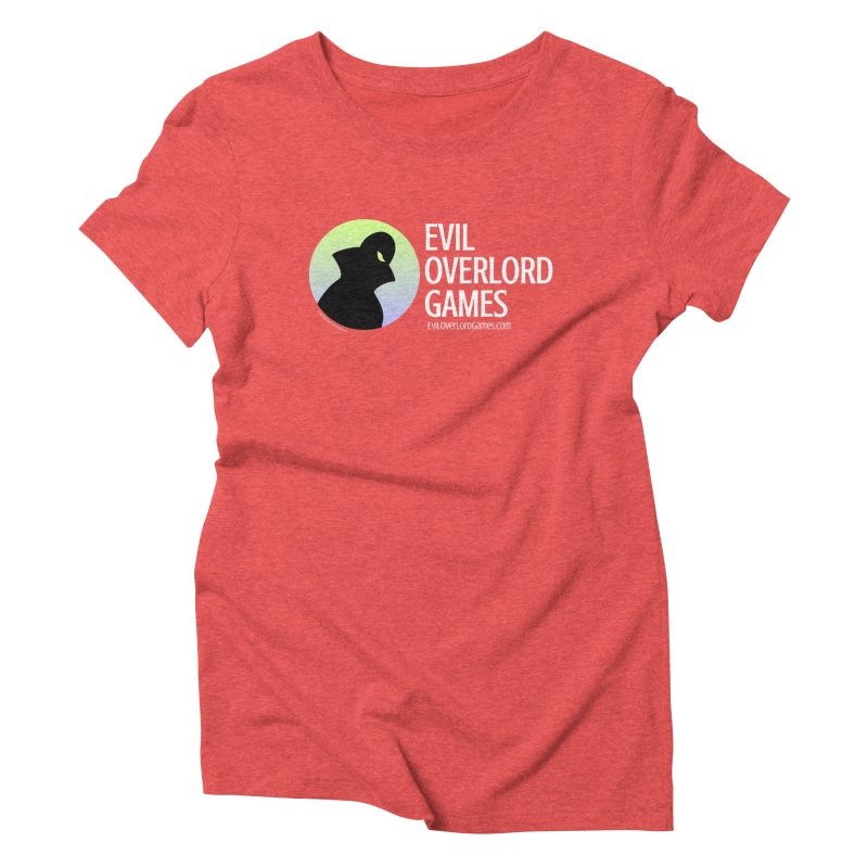 Evil Overlord logo - light in Women's Triblend T-Shirt Chili Red by Evil Overlord Games - The Shop!
