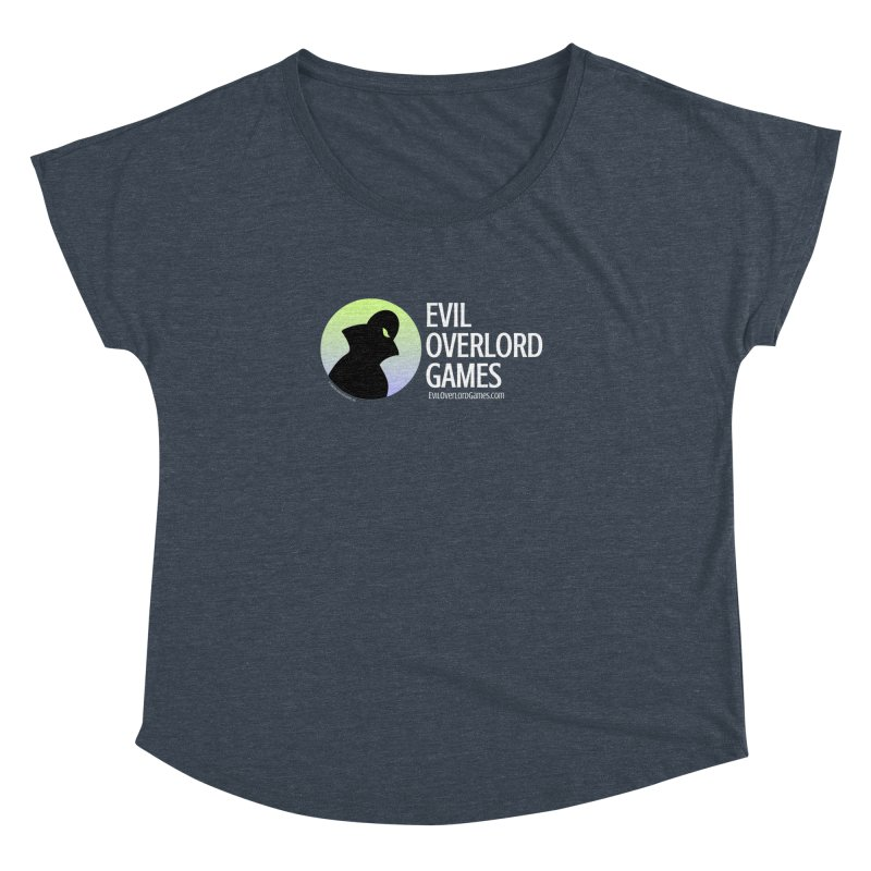 Evil Overlord logo - light Women's Dolman Scoop Neck by Evil Overlord Games - The Shop!