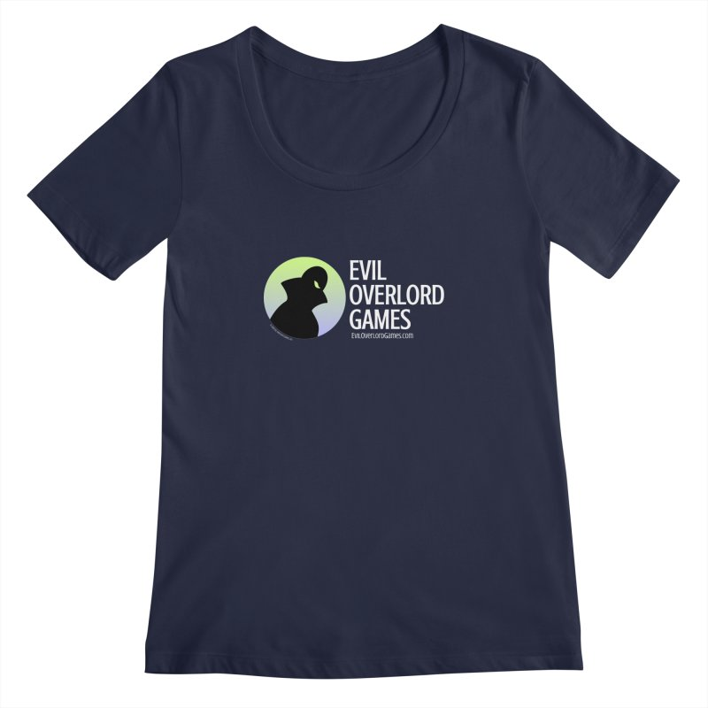 Evil Overlord logo - light Women's Regular Scoop Neck by Evil Overlord Games - The Shop!