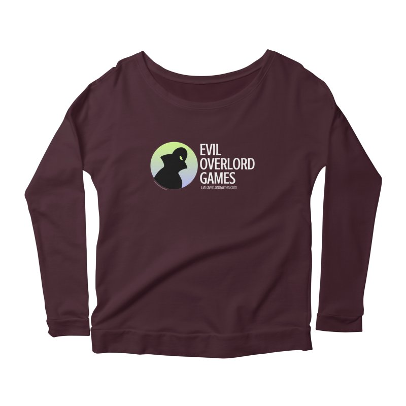 Evil Overlord logo - light Women's Scoop Neck Longsleeve T-Shirt by Evil Overlord Games - The Shop!