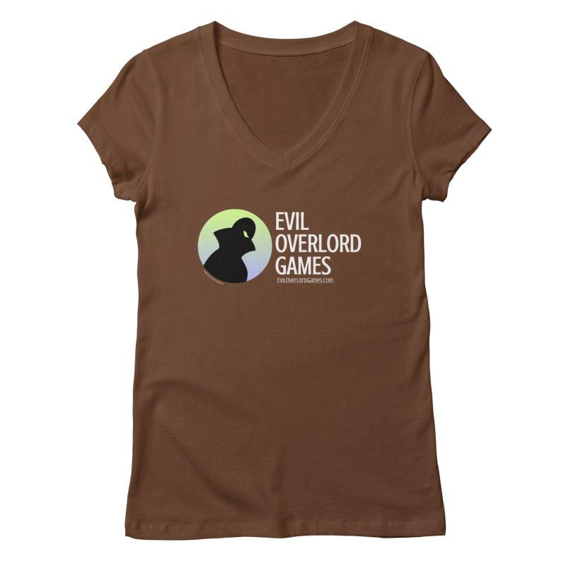 Evil Overlord logo - light Women's Regular V-Neck by Evil Overlord Games - The Shop!