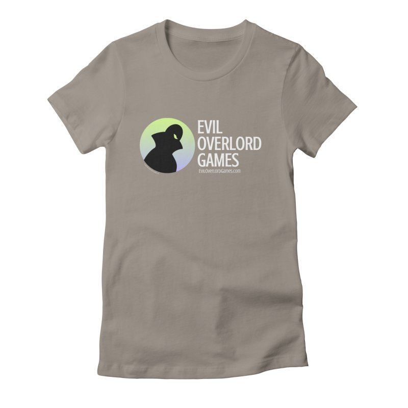 Evil Overlord logo - light Women's Fitted T-Shirt by Evil Overlord Games - The Shop!