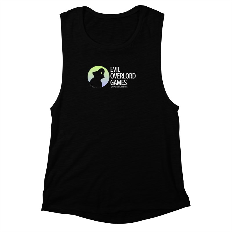 Evil Overlord logo - light Women's Muscle Tank by Evil Overlord Games - The Shop!