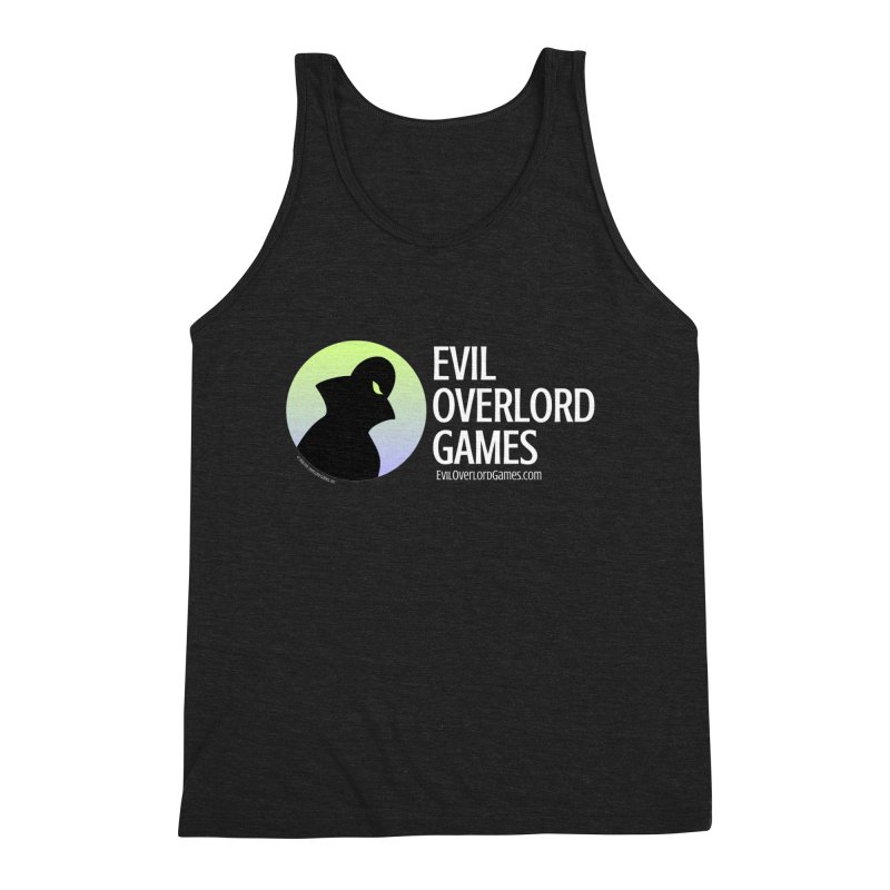 Evil Overlord logo - light Men's Triblend Tank by Evil Overlord Games - The Shop!
