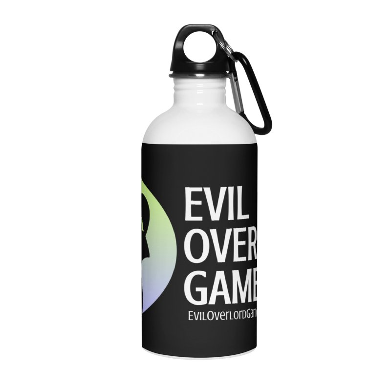 Evil Overlord logo - light Accessories Water Bottle by Evil Overlord Games - The Shop!