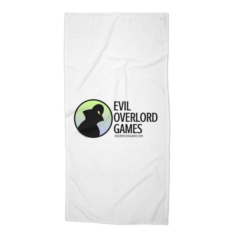 Evil Overlord logo - dark Accessories Beach Towel by Evil Overlord Games - The Shop!