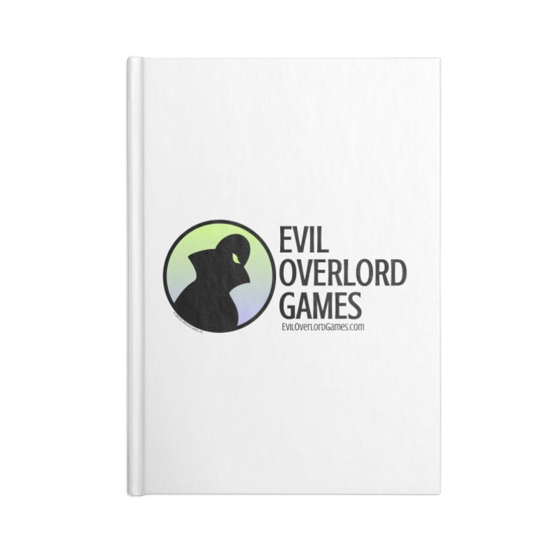Evil Overlord logo - dark Accessories Lined Journal Notebook by Evil Overlord Games - The Shop!