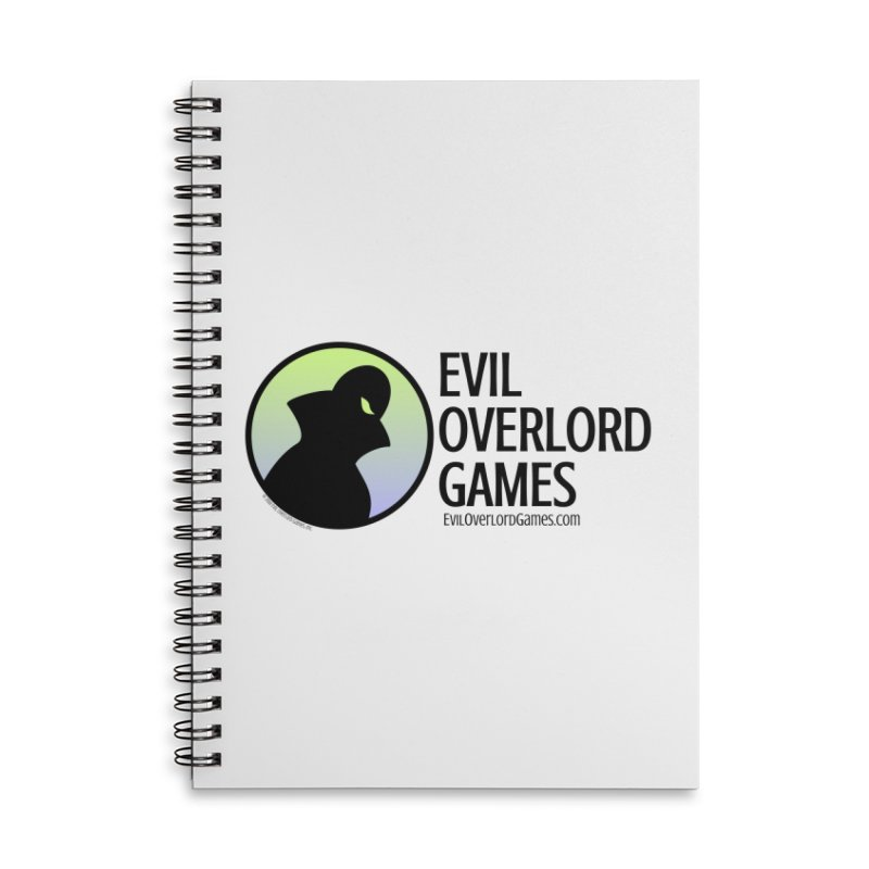 Evil Overlord logo - dark Accessories Lined Spiral Notebook by Evil Overlord Games - The Shop!