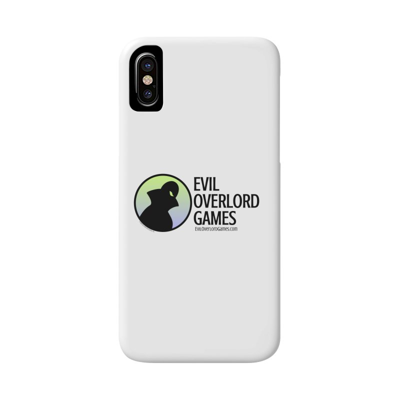 Evil Overlord logo - dark Accessories Phone Case by Evil Overlord Games - The Shop!