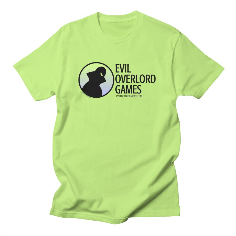 Evil Overlord logo - dark in Women's Regular Unisex T-Shirt Neon Green by Evil Overlord Games - The Shop!